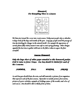 4 Seasons Homework