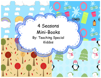 4 Seasons Mini-books Read and Color