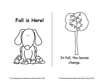 4 Seasons Mini-books Read and Color