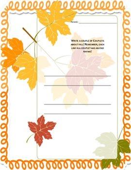 4 Seasons Poetry Unit- Extender Pack