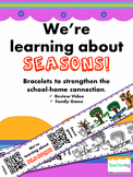 4 Seasons Homework {Bracelets with QR Codes}