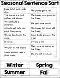4 Seasons Sentence Sort