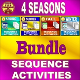 Sequence Picture Cards and Differentiated Writing Center 4 Seasons Bundle