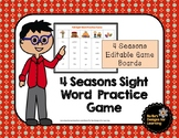 4 Seasons Sight Word Practice Game