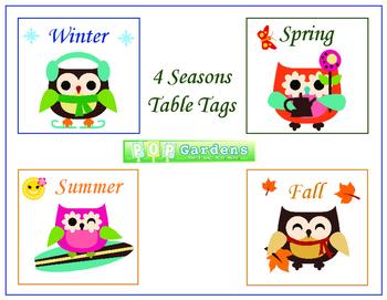 4 Seasons Table Tags