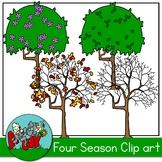 4 Seasons Tree Clip art