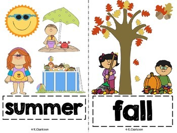 4 Seasons Vocabulary Picture Cards
