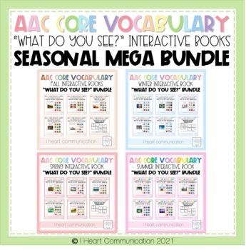 "4 Seasons ""What Do You See?"" Adaptive Interactive Books BUNDLE"
