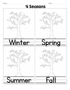 4 Seasons Write and Color