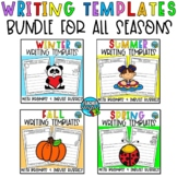 Second Grade Writing Worksheets Prompts Bundle - Recount, Informative Writing