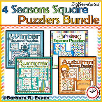 CRITICAL THINKING: 4 Seasons of Square Puzzlers Bundle