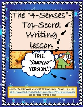 4 Senses - FREEBIE Guided Short Story Writing Activity