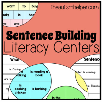4 Sentence Building Literacy Centers for Special Education