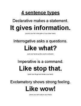 4 Sentence Types Chant