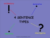 4 Sentence Types: Smart Notebook Review