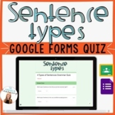 4 Sentence Types Quiz - Google Forms - *EDITABLE!* - Easy