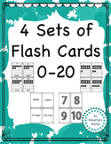 4 Sets of Number Flashcards 0-20
