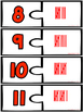 4 Sets of Number Puzzles 0-20 - Word, Object, Tally Mark and Dice Puzzles