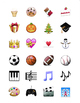 4 Sheets Printable Emoji Stickers for Avery Size 22805 1.5 inch