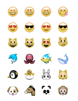 Fabulous image in printable emoji stickers
