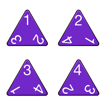 4-Sided Dice Clip Art & Templates