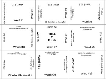 4 Sided Puzzle Template- Fully customizable!