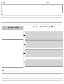 4 Simple Paragraph Graphic Organizers