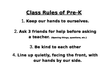 4 Simple Rules of Pre-K