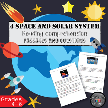 4 Space Reading Comprehension Sets