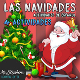 4 Spanish Christmas Activities - Matching + Story + Word s