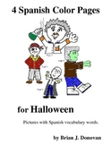 4 Spanish Color Pages for Halloween