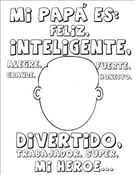 4 Spanish Father's day printables! 4 Actividades del día del padre en Español.