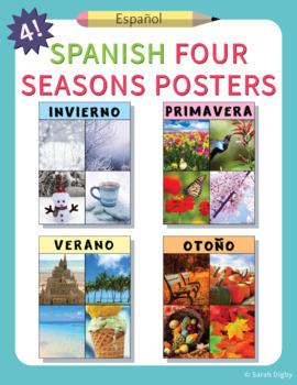 4 Spanish Four Seasons Posters