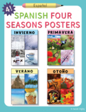 4 Spanish Four Seasons Posters