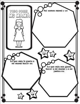 4 Spanish Mother's day activities! Día de la madre en Español.