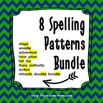 Spelling Patterns Bundle with Digital Interactive Notebook Option
