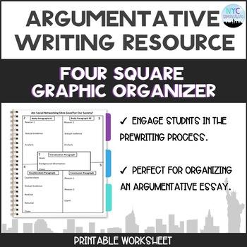 graphic organizer for argumentative essay