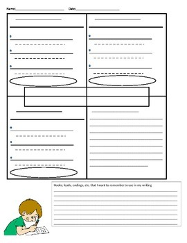 4 Square BLANK doc. for student practice with prewriting