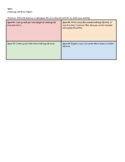 4 Square Combine Like Terms Project