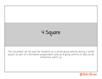 4 Square - Editable