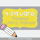 4-Square Essay Writing Organizers: DIGITAL & PRINT (1, 4, & 5 Paragraphs)
