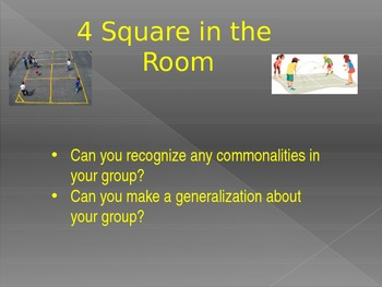 """4 Square Generalizations OR """"Get to Know You"""""""