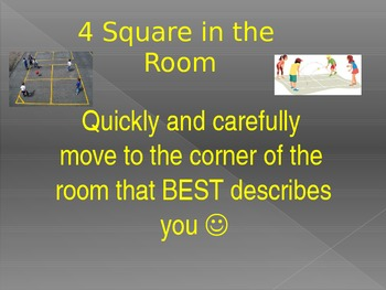 "4 Square Generalizations OR ""Get to Know You"""