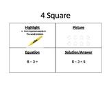 4 Square Math Poster