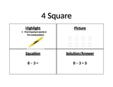 4 Square Math Poster
