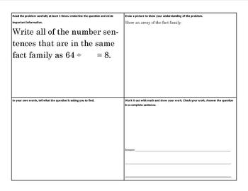 4 Square Math Problem Solving SET 1 (TEXAS STAAR)