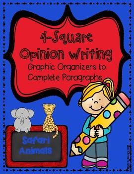 4-Square Opinion Writing- Zoo Animals