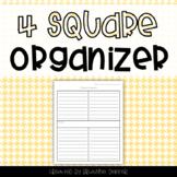 4 Square Persuasive Writing Organizer FREEBIE
