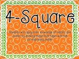 4-Square Phonemic Awareness Practice
