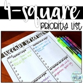 4-Square Priority List for Busy Teachers